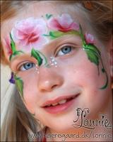 Lonnies_ansigtsmaling-Roseprinsesse