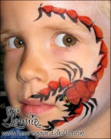 Lonnies_ansigtsmaling-skorpion