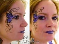 Lonnies_ansigtsmaling-Eye-design-adult-sommerfugl