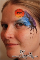 Lonnies_ansigtsmaling-Halloween-solnedgang