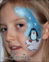Lonnies_ansigtsmaling-Pingvin-paa-isflage