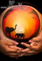 Lonnies_ansigtsmaling-Gravid-Ida-Afrika1