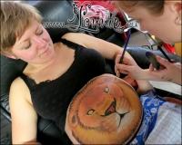Lonnies_ansigtsmaling-Gravid-Ida-Loeve2