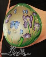 Lonnies_ansigtsmaling-gravid-iris-3