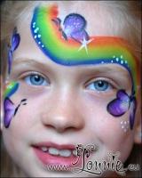 Lonnies_ansigtsmaling-Regnbue_og_sommerfugle