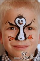 Lonnies_ansigtsmaling-pingvin