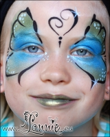 Lonnies_ansigtsmaling-sommerfugl-blaa-groen