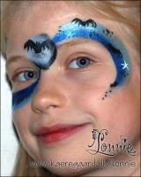 Lonnies_ansigtsmaling-Halloween-flagermusswirl