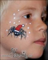 Lonnies_ansigtsmaling-juleedderkop
